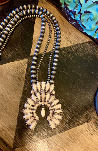Triple Strand Navajo Pearl Necklace
