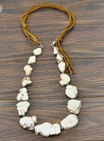 White Buffalo Slab Necklace