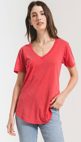 Z Supply Red Pocket Tee