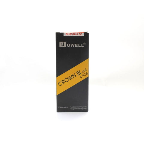 Uwell Crown 3 Coils (4pk) 0.5Ohm SUS316, 70-80W