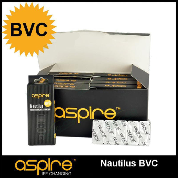 Aspire BVC Nautilus / Mini Nautilus Coils (Box 100) - 1.6ohm, 1.8ohm - Wholesale Coils