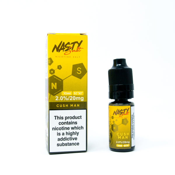 Cush Man Nasty Juice Nic Salt E-Liquid 10ml- 10mg or 20mg