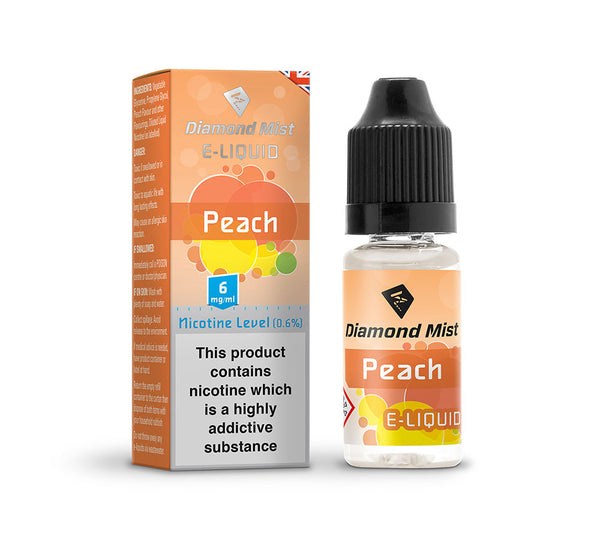 DIAMOND MIST PEACH E-LIQUID 6MG