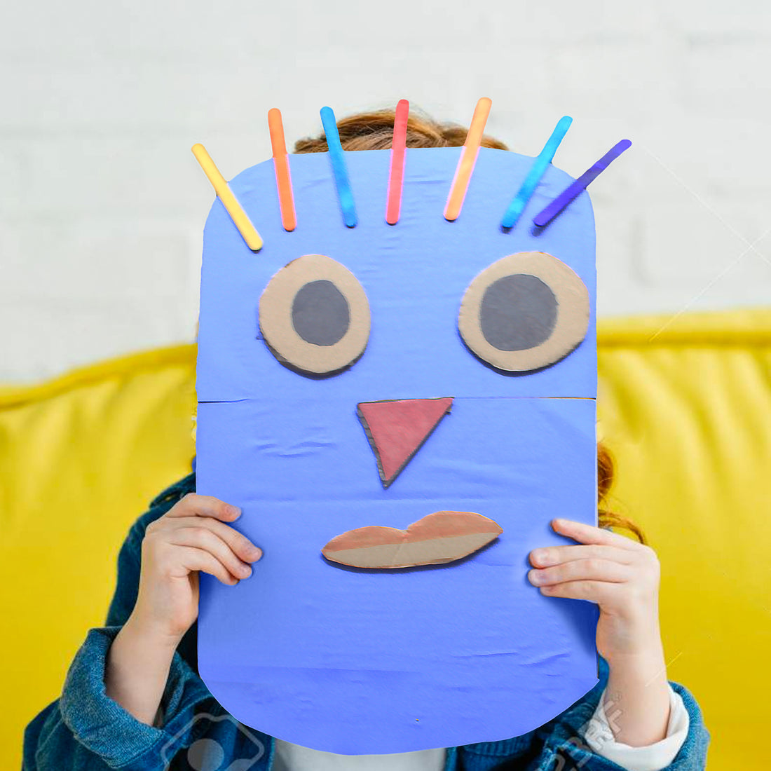 DIY Craft: Colourful Funky Mask for a Fun Storytelling Session