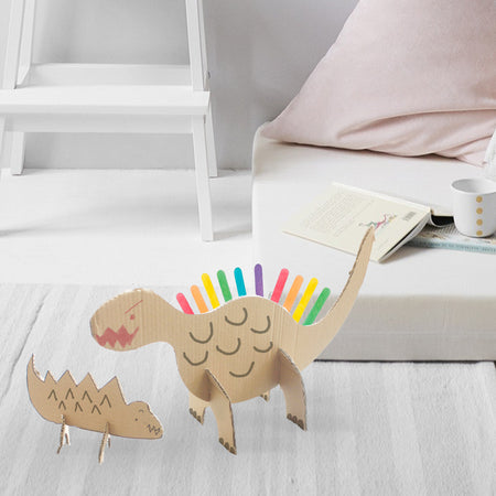 DIY Craft: Make a Fun Dinosaur Standee With Your Little Ones