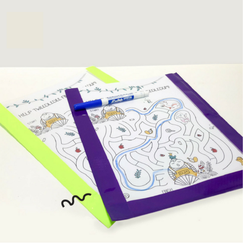 Dry Erase Boards with Printable Oribel Maze