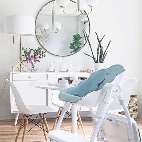 The Cocoon High Chair is a perfect compliment to any modern home.