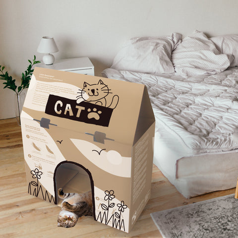 Diy Craft Your Feline Friend S Very Own Cat House Oribel