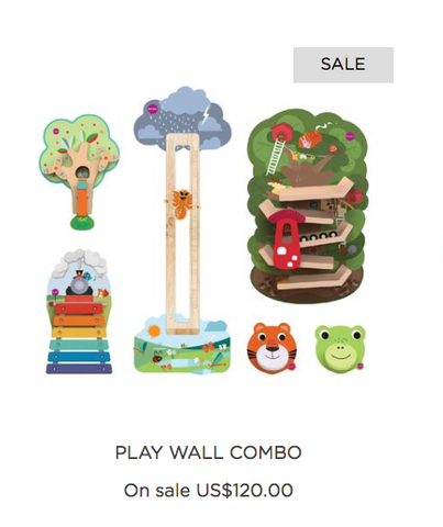 Oribel play wall combo for sale
