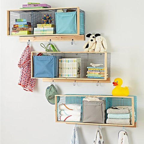 vertical wall shelves for storage for reducing clutter at home