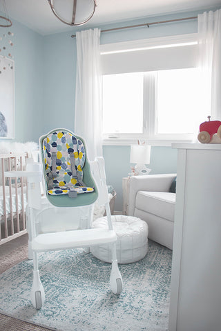 The Oribel Cocoon modern high chair is the perfect compliment to any modern home.