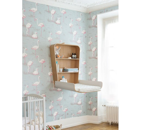 fold-down changing table with baby's necessities