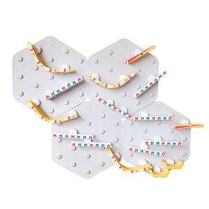 VertiPlay STEM Marble Run | Set of 4 Mat Bases + 42 pcs