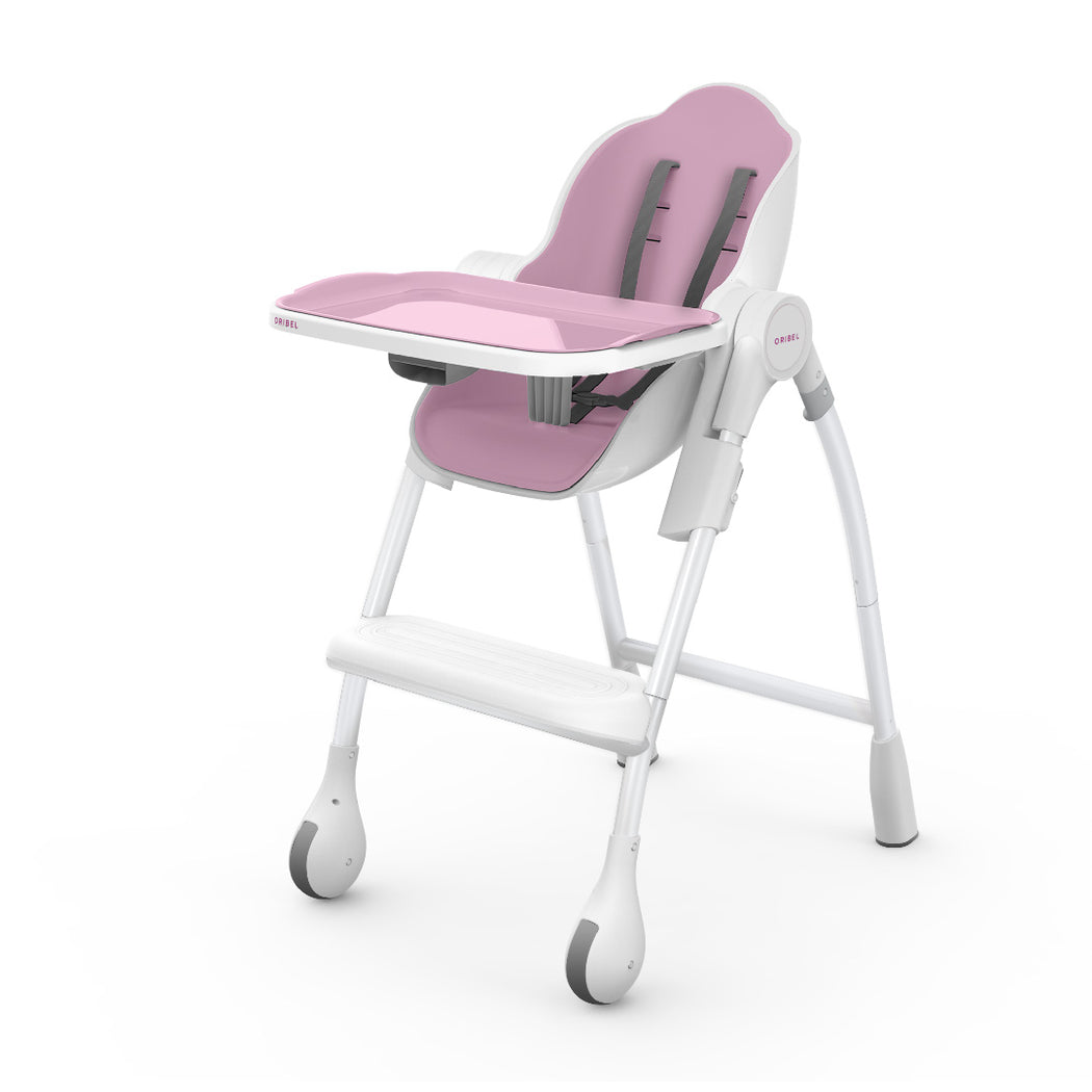 Cocoon High Chair (Pink, Rose Meringue) + Seat Liner Combo