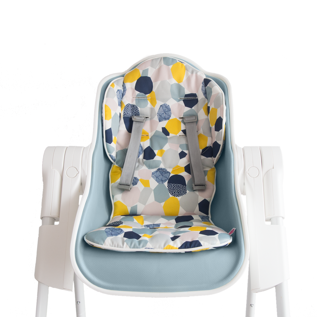 Cocoon High Chair (Blue Raspberry Marshmallow) + Seat Liner Combo