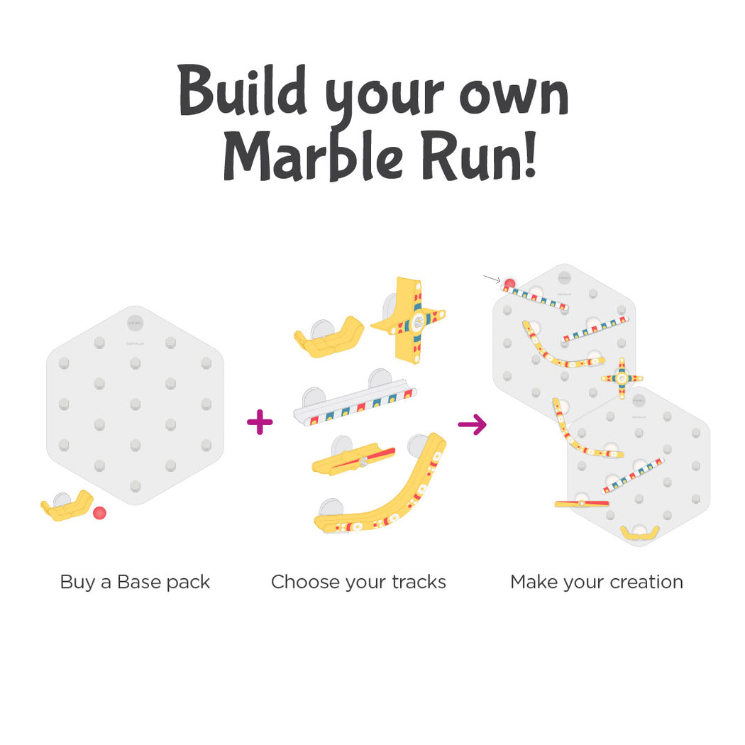 Pin-wheel tracks | Build your own Marble Run Or, Extend it!