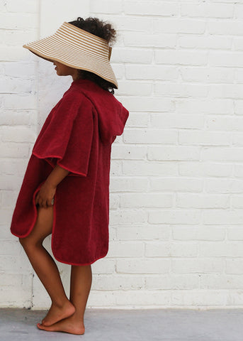 Toddler cape cerise