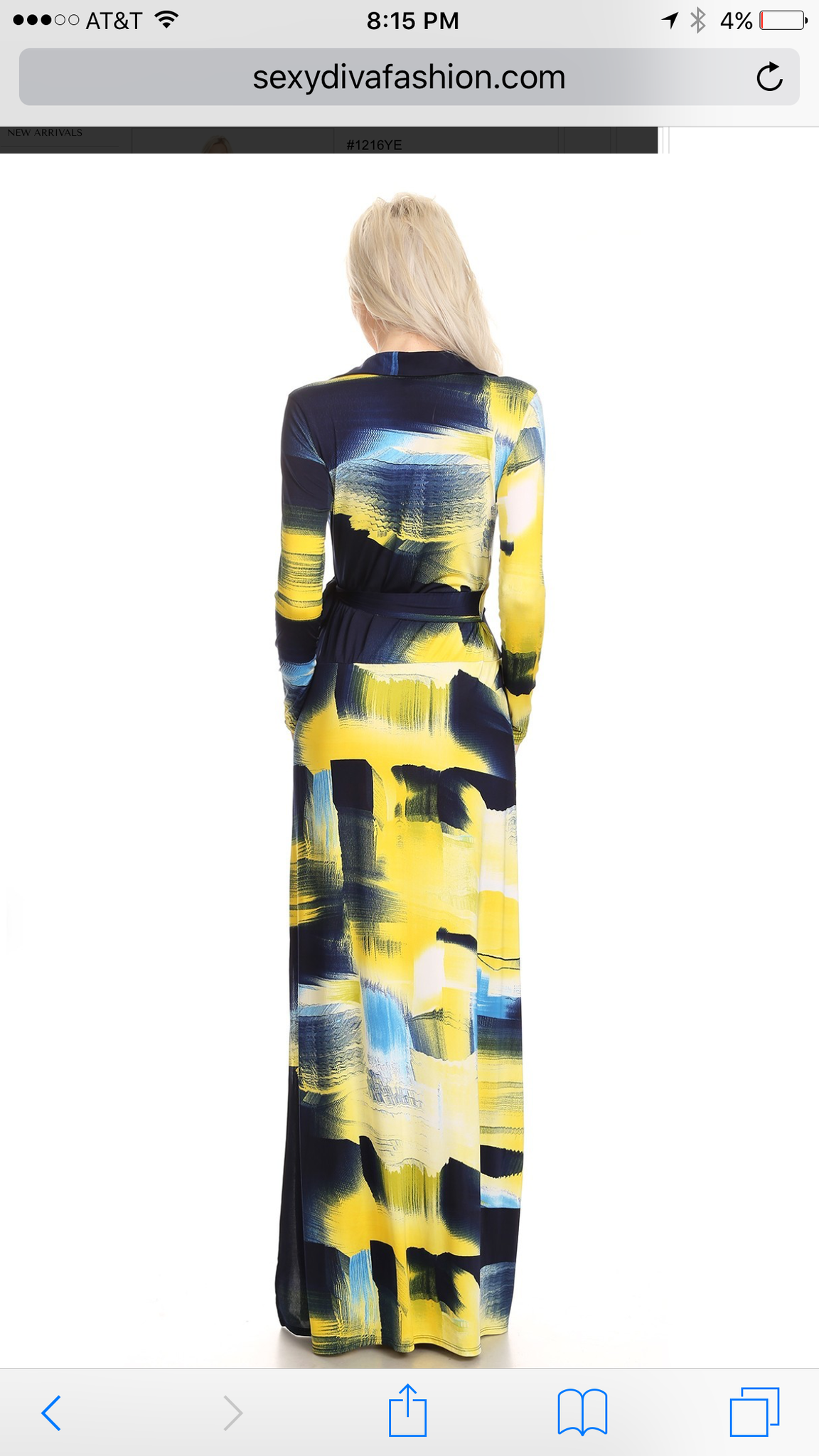 Brushstroke Wrap Dress