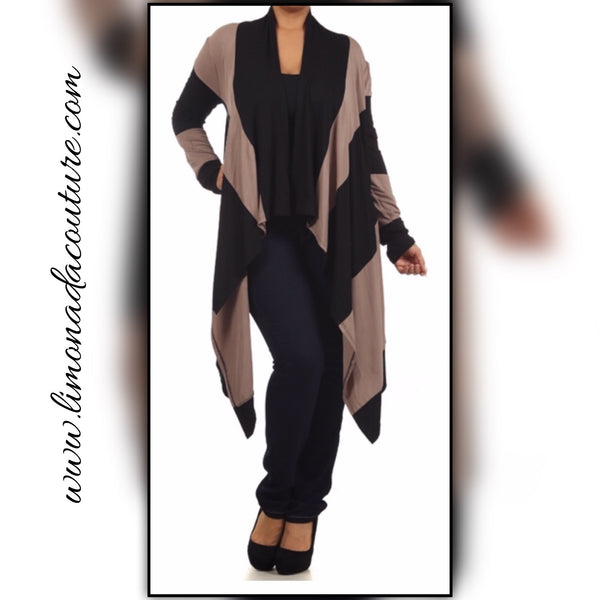 Black and Beige Cardigan