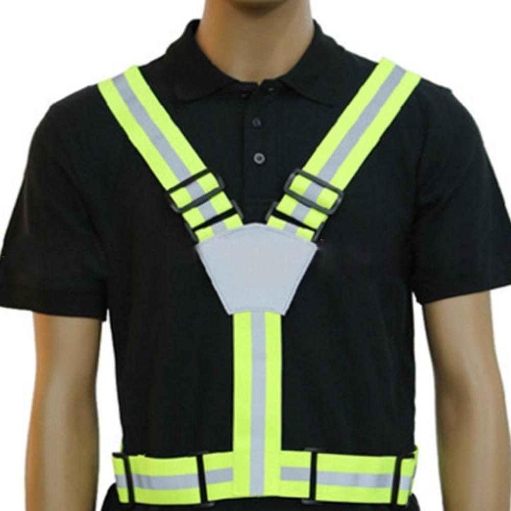Cycling Vest - Safety | Reflective Visibility Running Cycling Adjustable Safety Belt