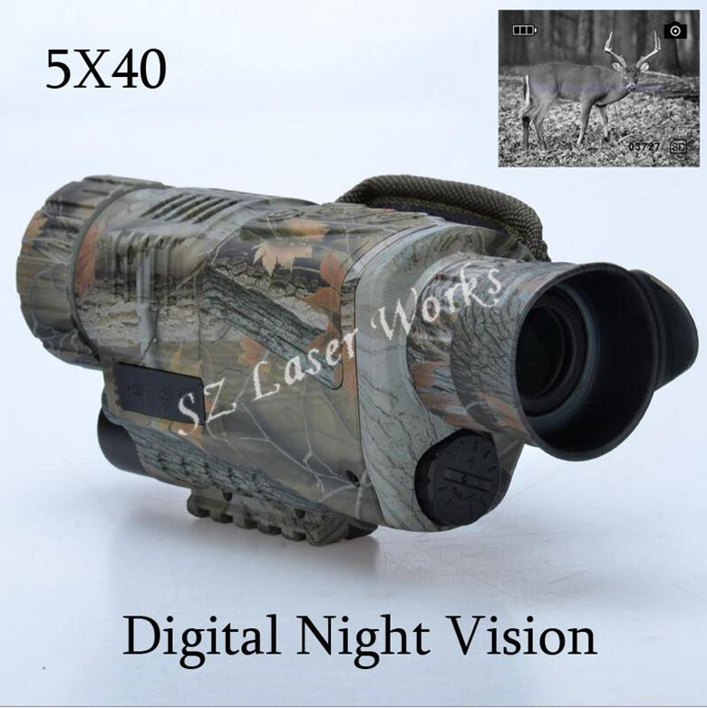 Night Visions - Telescope | Very Cool Night Vision Low Light Monocular 5X40 Spotting Scope Takes Photos & Video With TFT LCD