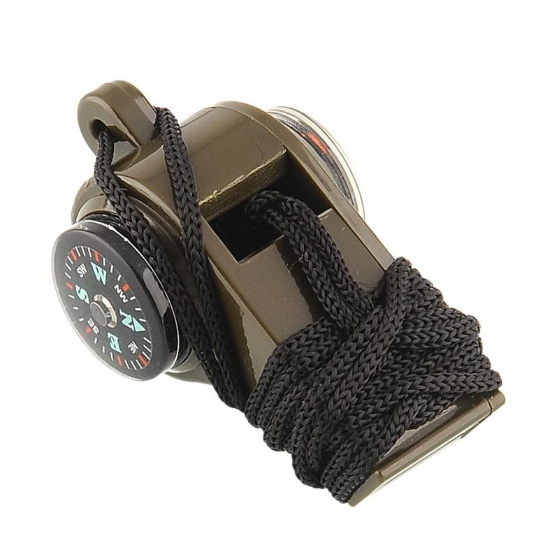 Outdoor Tools - Survival Tool | 3 In 1 Multi Function Whistle Compass Thermometer