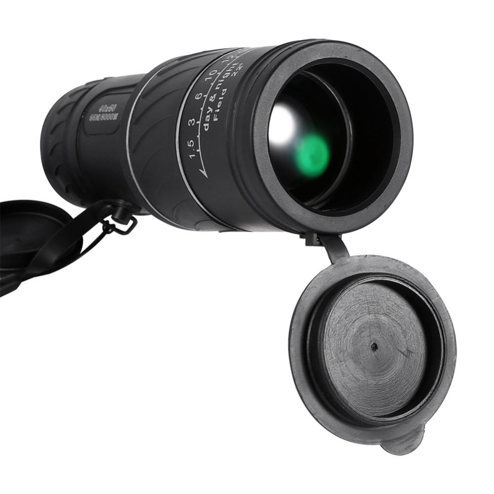 Telescope & Binoculars - Telescope | 40x60 HD Pocket Monocular Telescope Low Level Night Vision Green Film Optics