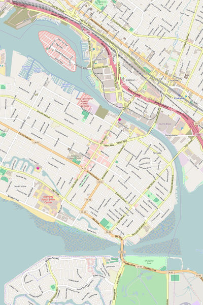 Detailed Editable Vector Map of  Alameda