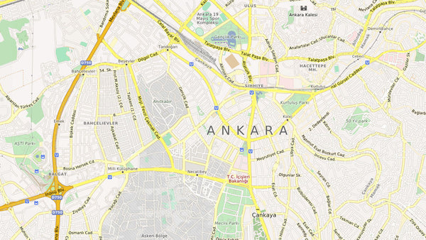 Ankara City Map Vector Illustrator