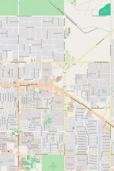 Detailed Editable Vector Map of  Apache Junction