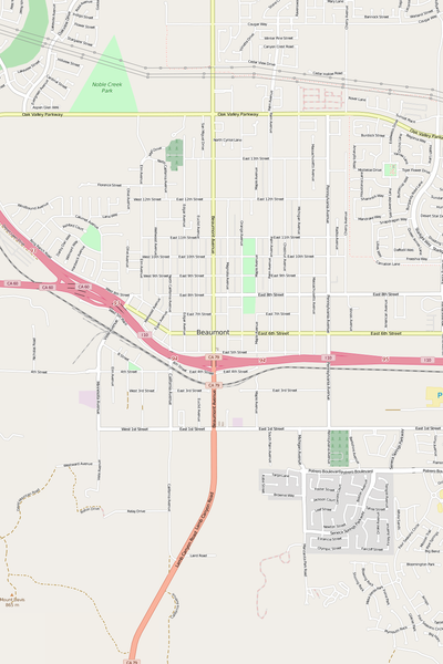 Detailed Editable Vector Map of  Beaumont