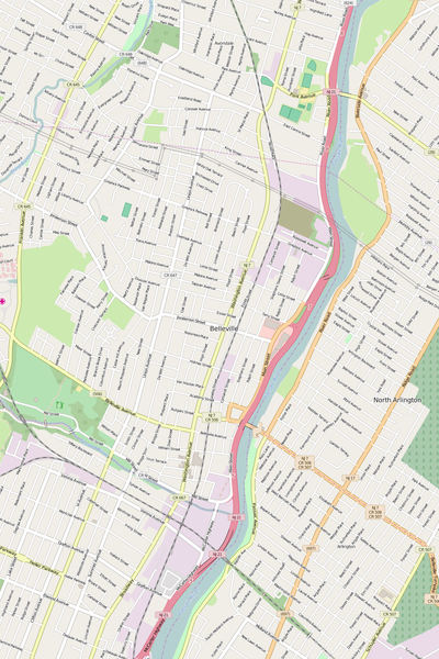 Detailed Editable Vector Map of  Belleville