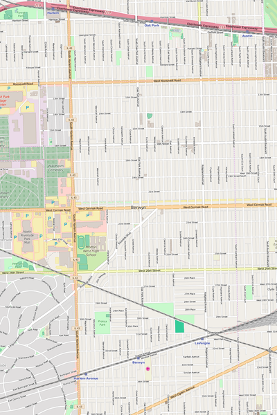Detailed Editable Vector Map of  Berwyn