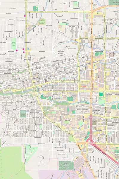 Detailed Editable Vector Map of  Boulder
