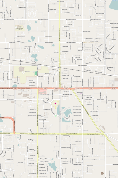 Detailed Editable Vector Map of  Brandon