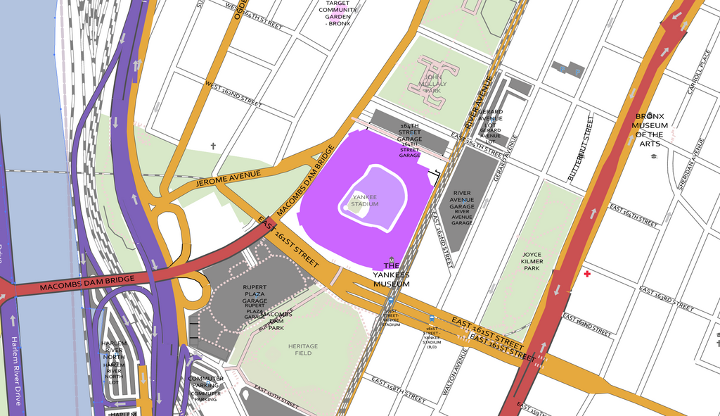 Detailed Vector Map of the Bronx New York City Map Illustrators