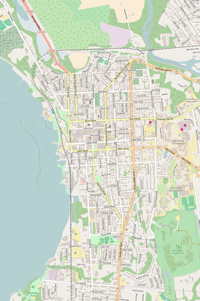 Detailed Editable Vector Map of  Burlington