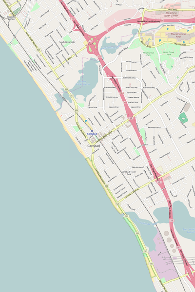 Detailed Editable Vector Map of  Carlsbad