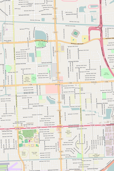 Detailed Editable Vector Map of  Carol City