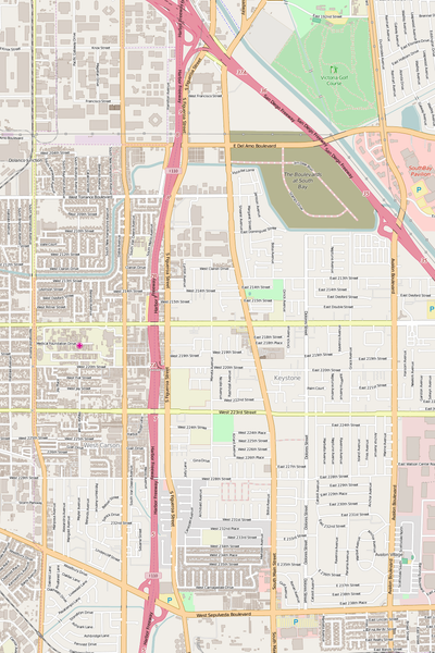 Detailed Editable Vector Map of  Carson
