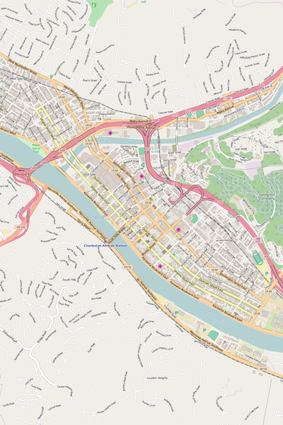 Detailed Editable Vector Map of  Charleston