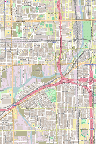 Detailed Editable Vector Map of  Chicago