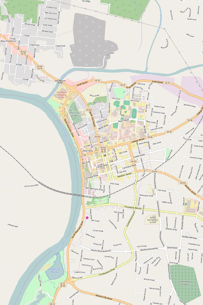 Detailed Editable Vector Map of  Clarksville