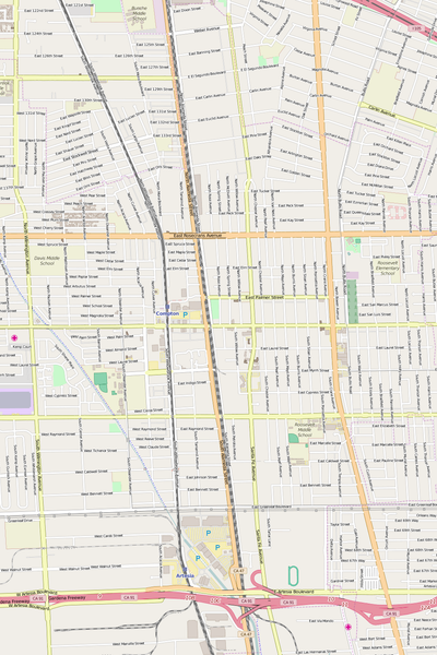 Detailed Editable Vector Map of  Compton