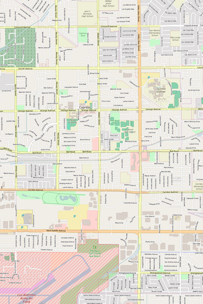 Detailed Editable Vector Map of  Cypress
