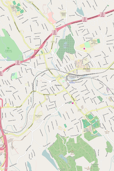 Detailed Editable Vector Map of  Danbury