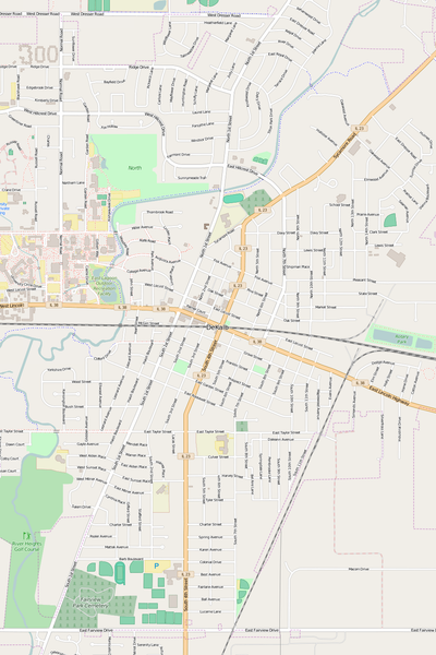 Detailed Editable Vector Map of  DeKalb
