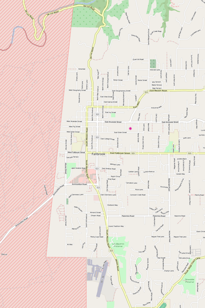 Detailed Editable Vector Map of  Fallbrook