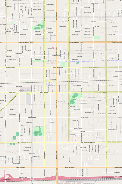 Detailed Editable Vector Map of  Fontana