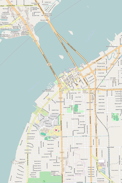 Detailed Editable Vector Map of  Fort Myers
